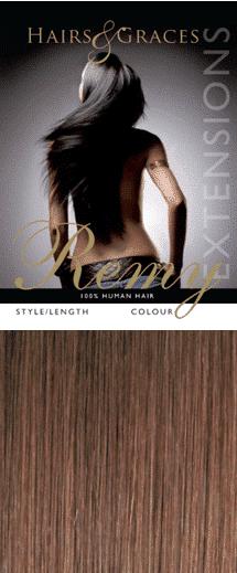 Remy Nail Tip Hair Chestnut Brown 4