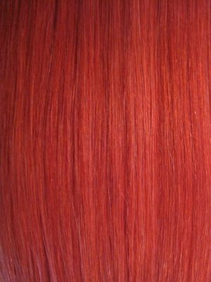 Colour Post Box Red Hair Extensions