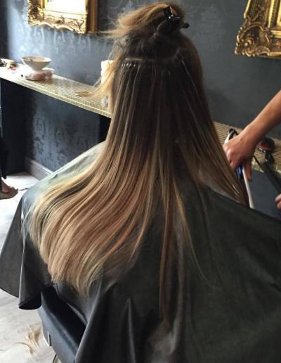 Hair Extensions Fitting in our Birmingham Salon